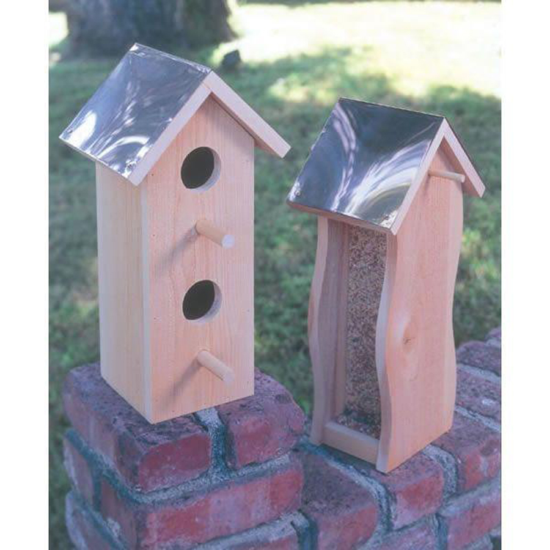 U-BILD Cedar Bird House & Feeder Plan