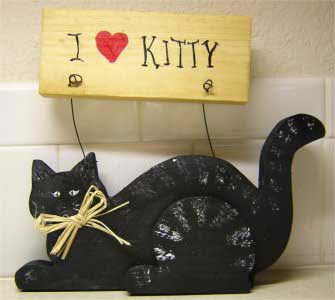 Wood Crafts - I Love Kitty Pattern