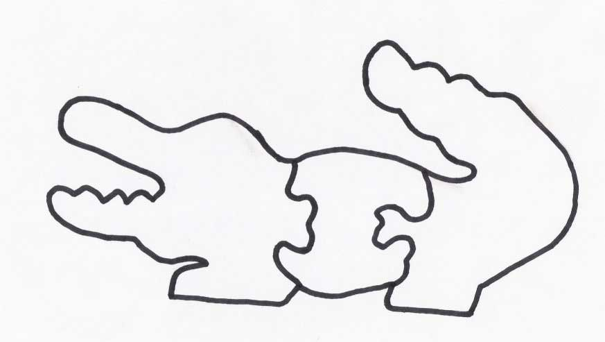 Wood Puzzles For Kids Alligator Puzzle