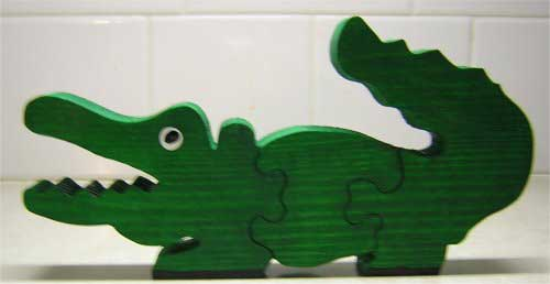 Wood Puzzles for Kids - Alligator Puzzle