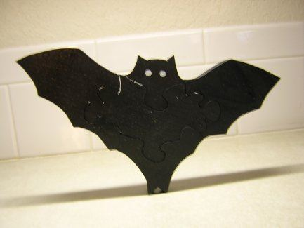 Halloween Pattern - Franky the Bat Puzzle