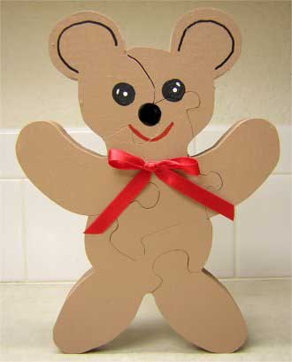 Wood Jigsaw Puzzle - Teddy Bear