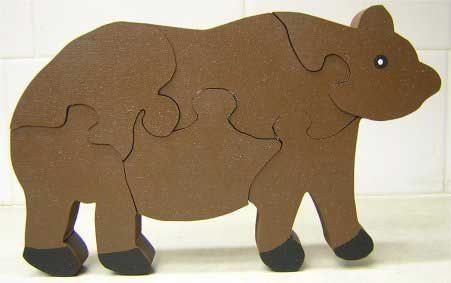 Wood Puzzles For Kids - Pattern for Polaris the Brown Bear