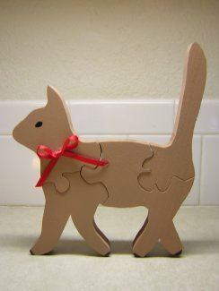 Wooden Puzzles for Kids - Tabby the Cat Puzzle
