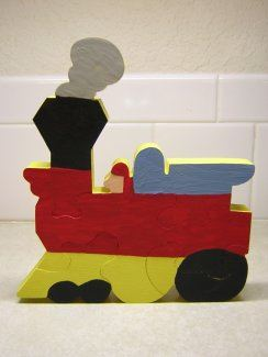 Choo-Choo Train Puzzle Woodworking Plan