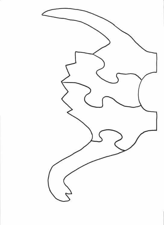 Dinosaur Puzzle Pattern Printable