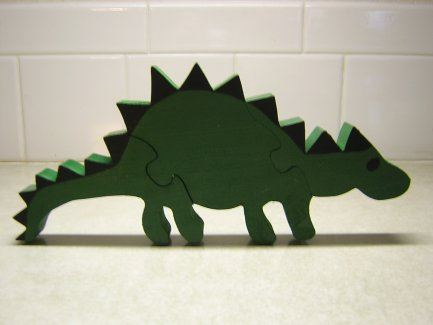 Asia the Dinosaur Wood Puzzle