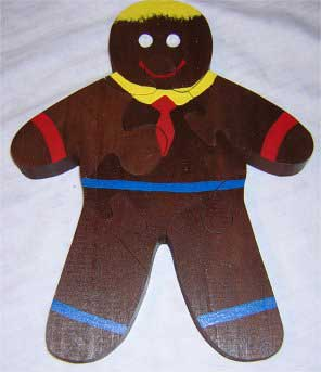 Christmas Puzzles - Gingerbread Man Puzzle