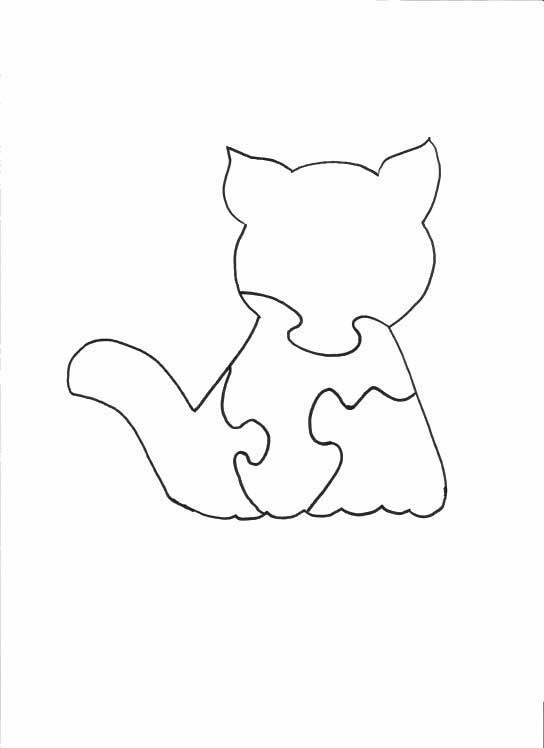 Cat Puzzle Scroll Saw Patterns
