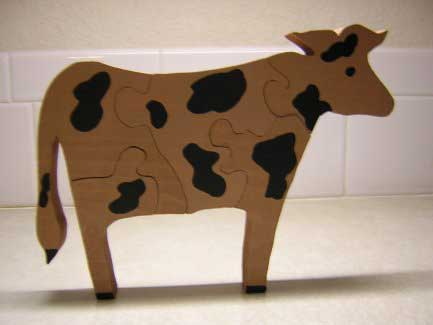 Puzzles for Preschoolers - Old Cow Puzzle