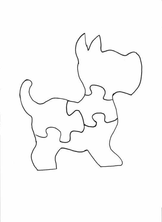 Instructions on how to cut a scottish terrier hairstyle for Puzzle cut out template