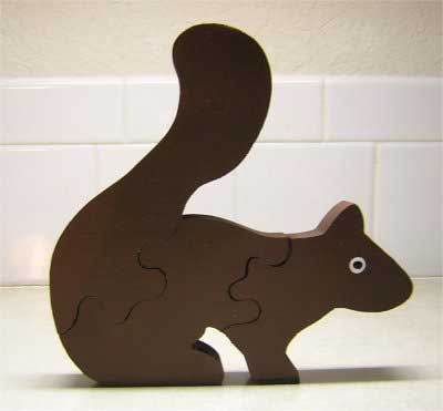 Free Scroll Saw Pattern - Squirrel Puzzle