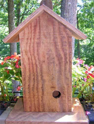 Free Bird House Plans - Build a Wren Bird House