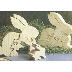 Scrollsaw Bunnies Puzzle Downloadable Plan