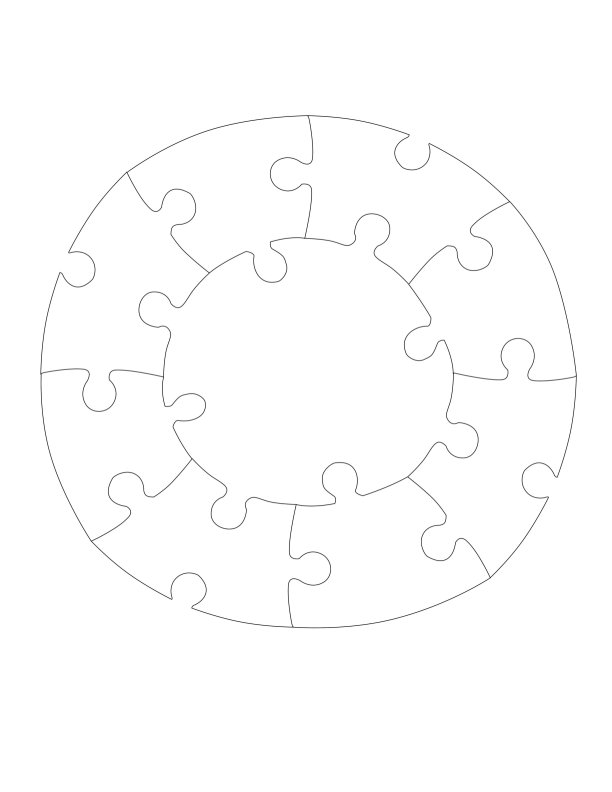 Free Plans for Jigsaw Puzzles - Make a Circle Jigsaw Puzzle Out of ...
