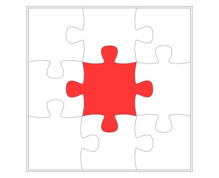 Puzzle Template - Four Piece Jigsaw Puzzle Template